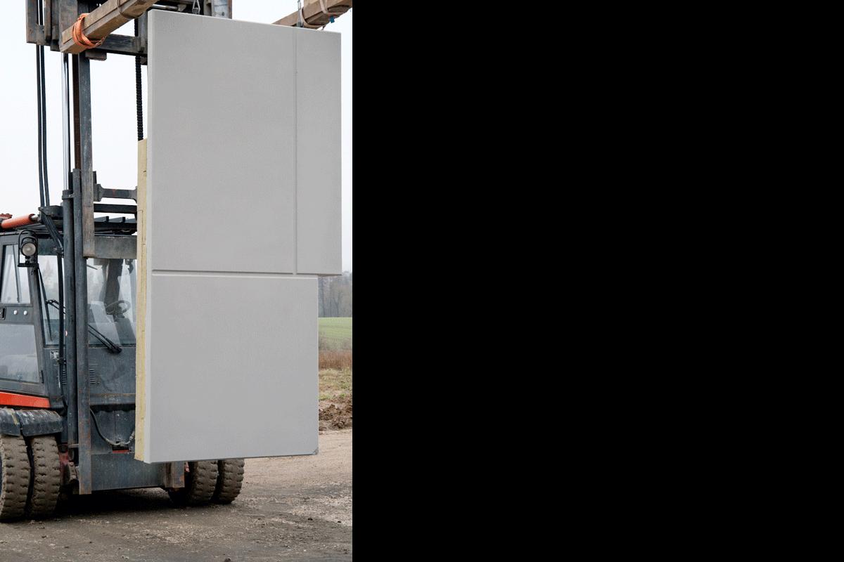 Sichtbeton Sandwich-Fassaden Betonfertiteile, Oberfläche gestrahlt