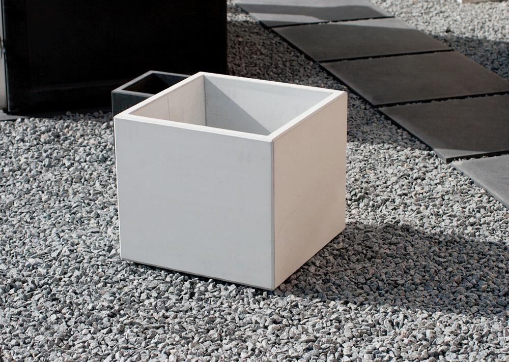 Pflanztrog Sichtbeton, 45x45x40