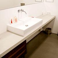 Link zu Seite Arbeitsplatten, Tischplatten, Waschtischplatten aus Sichtbeton